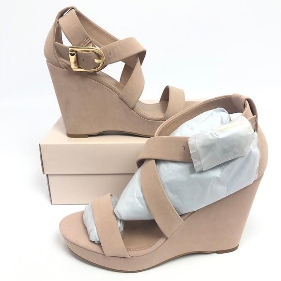 BCBGeneration Shoes - BCBGeneration Womens Jae Wedge Sandals Blush 9.5M